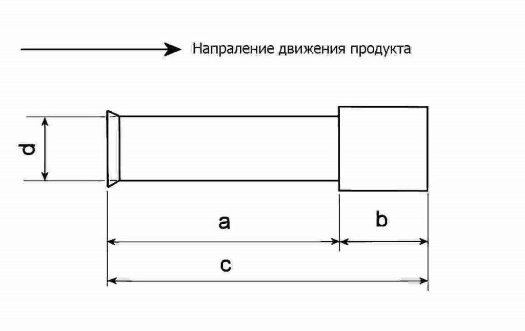 чертеж канала матрицы гранулятора